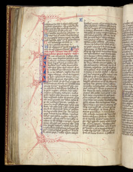 Flourished Initial And Borders, In Bede's 'Ecclesiastical History' f.128v